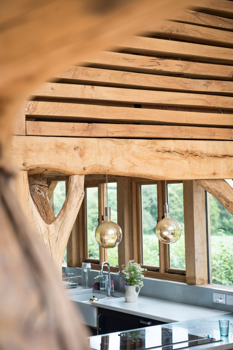 Wood Cladding and Beams