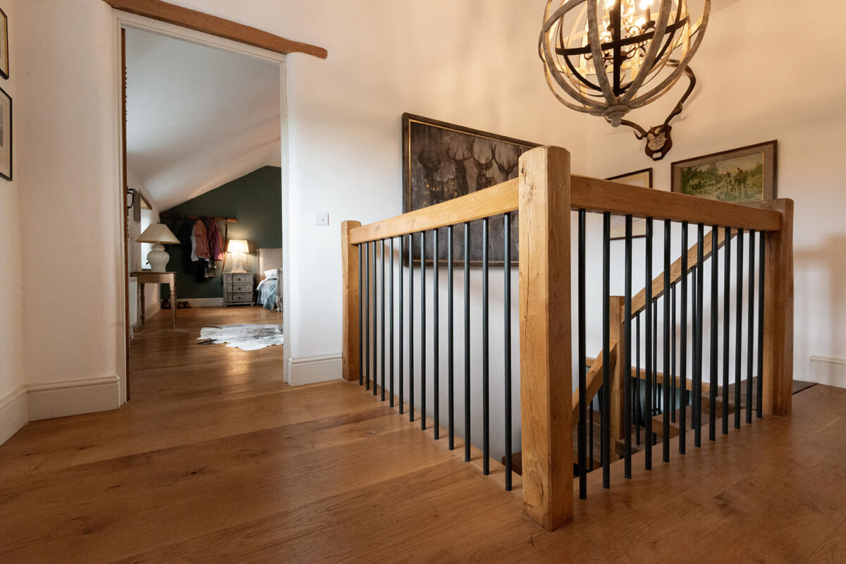 Character Oak Flooring and Stairwell