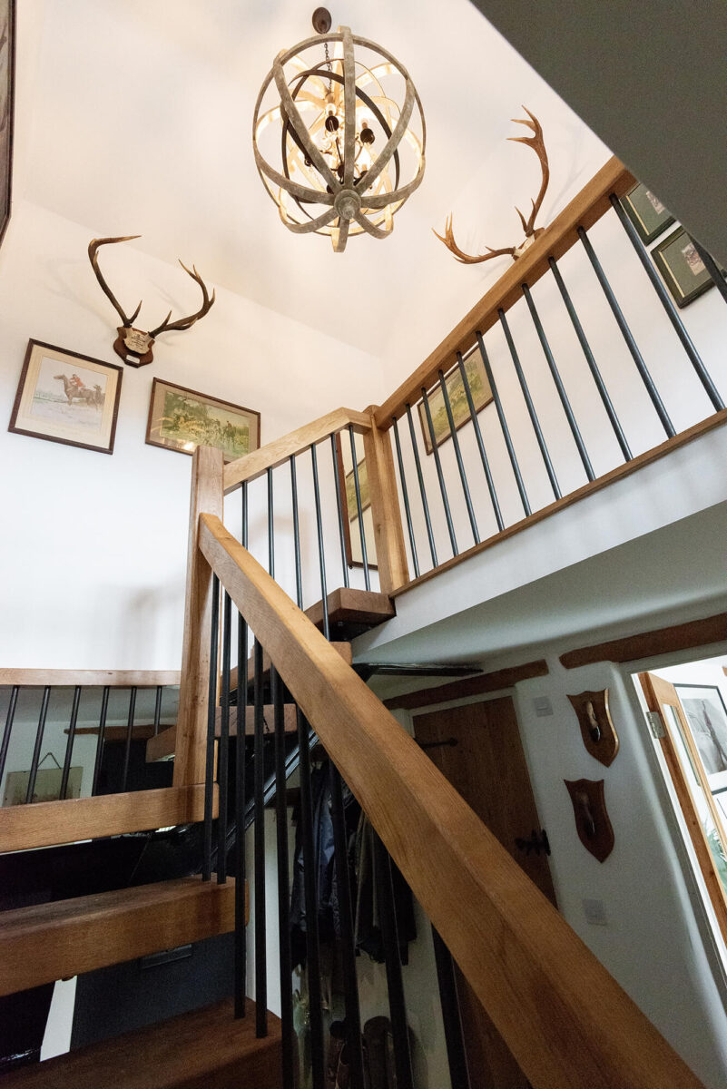 Character Oak Stairs and Bannister