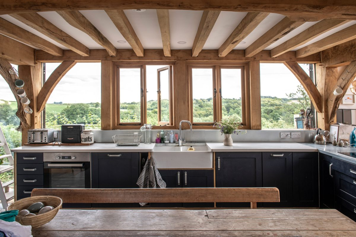 wooden kitchen beams
